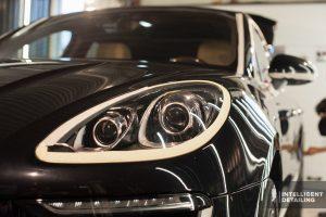 Porsche cayenne выпрямление вмятин PDR, полировка жидкое стекло.