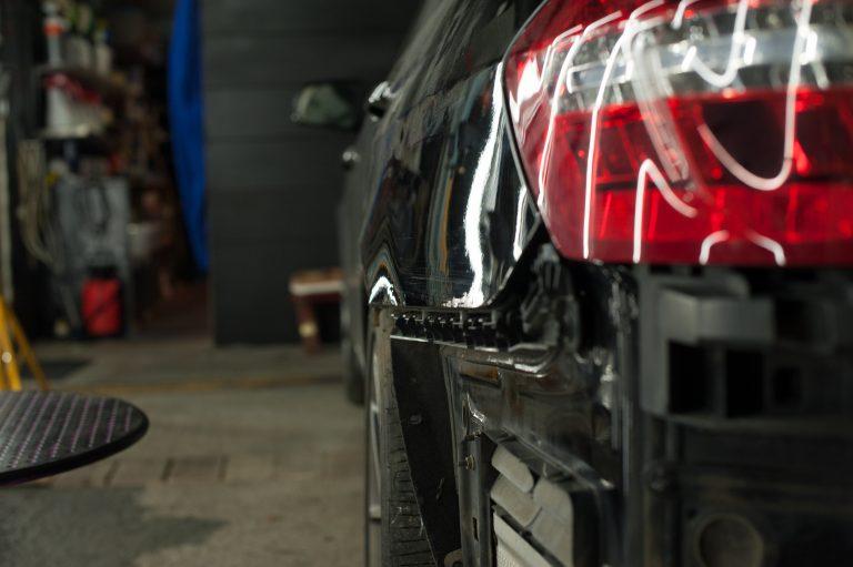 Mercedes E-350 удаление вмятины
