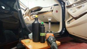 Mercedes s63 - полировка + ЖИДКОЕ СТЕКЛО + полировка салонных элементов