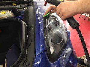 Защита фар полиуретаном Porsche Boxter