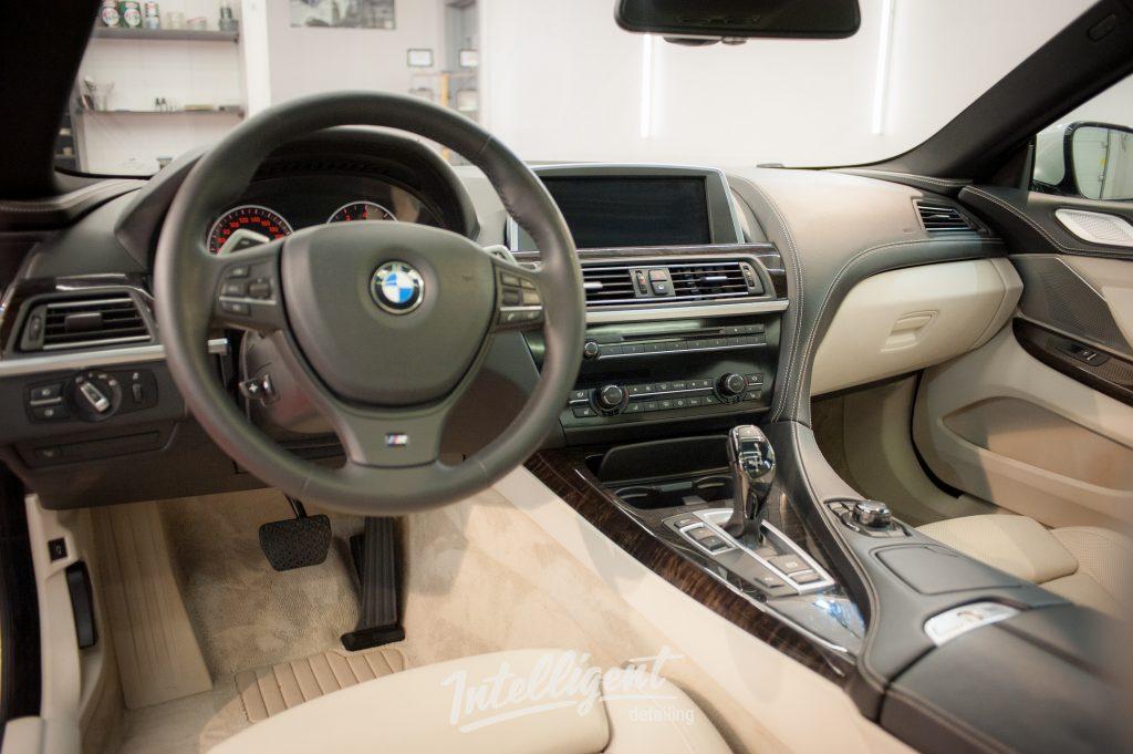 BMW 6 - химчистка салона