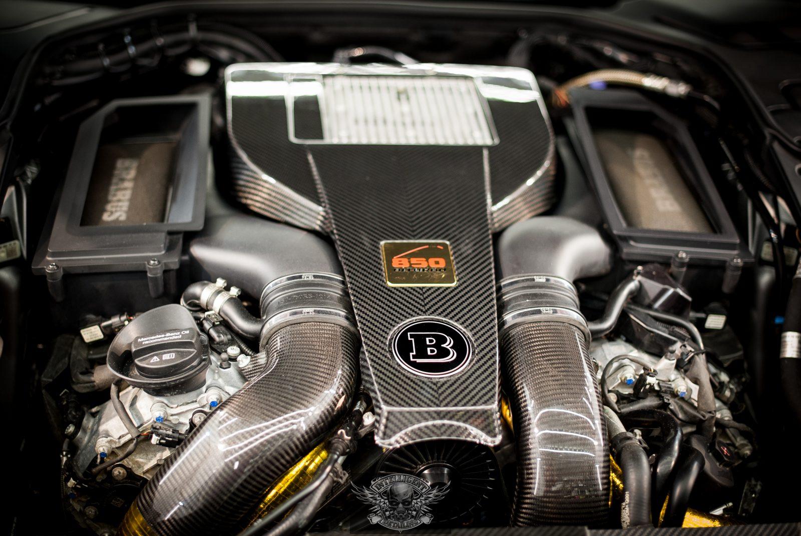 Mercedes S Brabus 850 мойка мотора паром