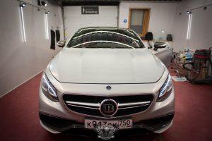 Mercedes S Brabus 850 полировка карбона