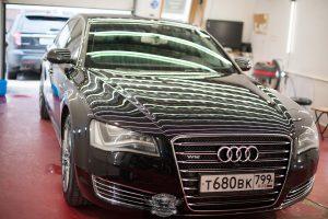 Audi A8 Бронированный VR8 - полировка лкп
