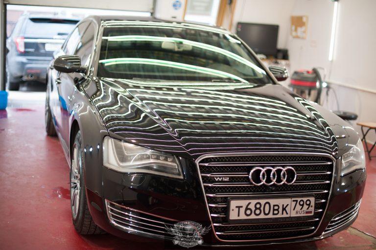 Audi A8 Бронированный VR8 полировка лкп
