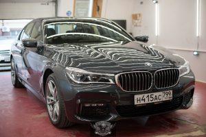 BMW 7 полировка лкп кузова