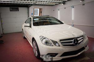 Mercedes E250 полировка и керамика