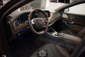 Mercedes S600 Бронированный VR9 химчистка салона