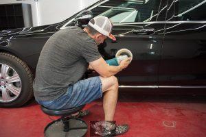 Полировка + химчистка Mercedes S600 бронированный