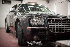 Chrysler 300c полировка стекла