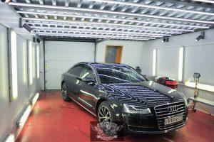 Audi A8 L полировка лкп кузова
