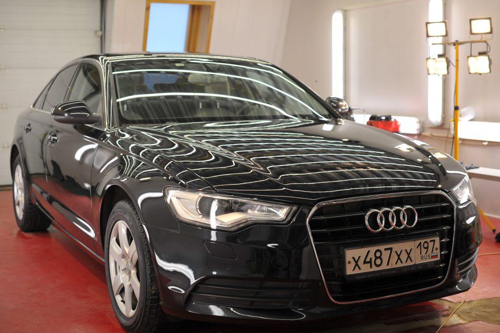 Audi A6 полировка лкп