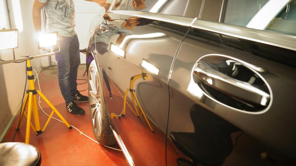 Mercedes S63 полировка + жидкое стекло