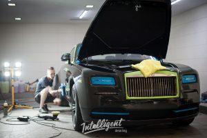 Rolls Royce Wraith полировка лкп