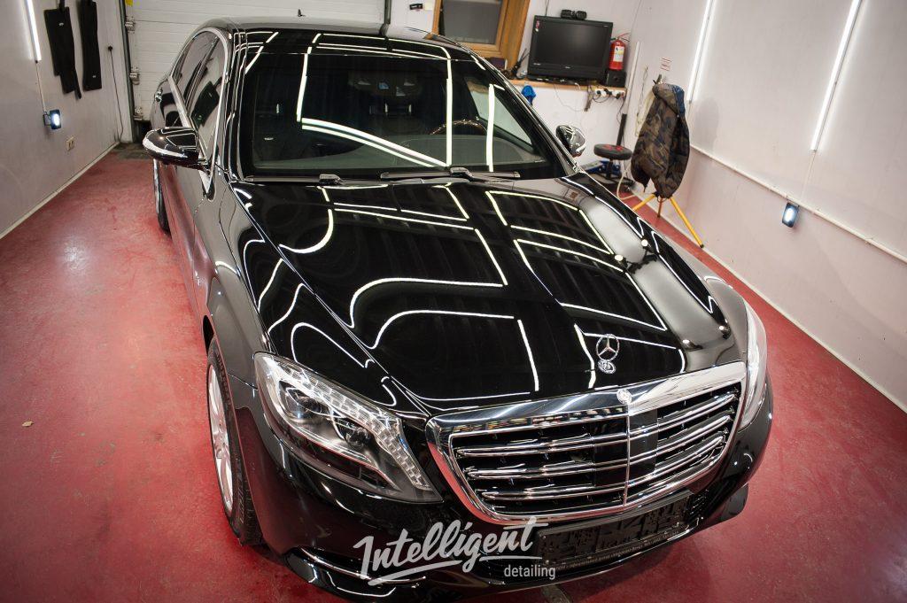 Mercedes S600 бронированный VR9 предпродажная подготовка