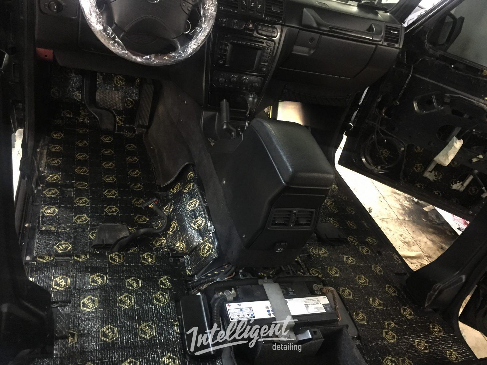 Mercedes g500 Galendwagen шумоизоляция