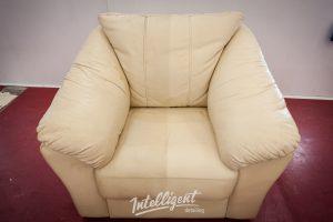 Кожаный диван - химчистка