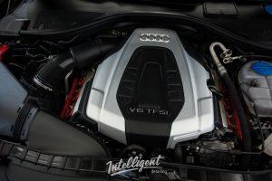 Audi A6 мойка мотора паром