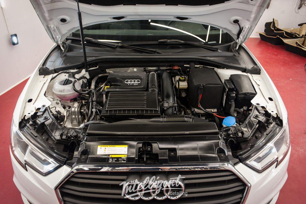 Audi A3 - мойка двигателя паром