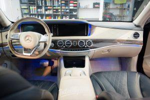 Mercedes S500 химчистка салона