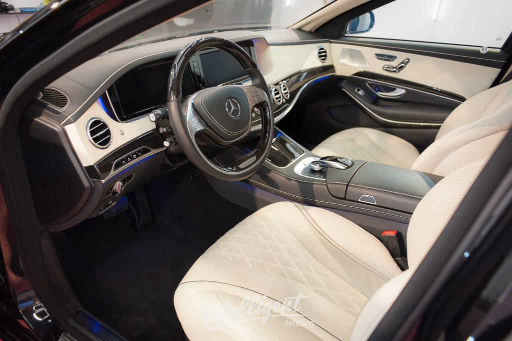 Mercedes S600 бронированный VR9 - химчистка