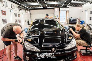 Peugeot 206 gt - полировка керамика детейлинг