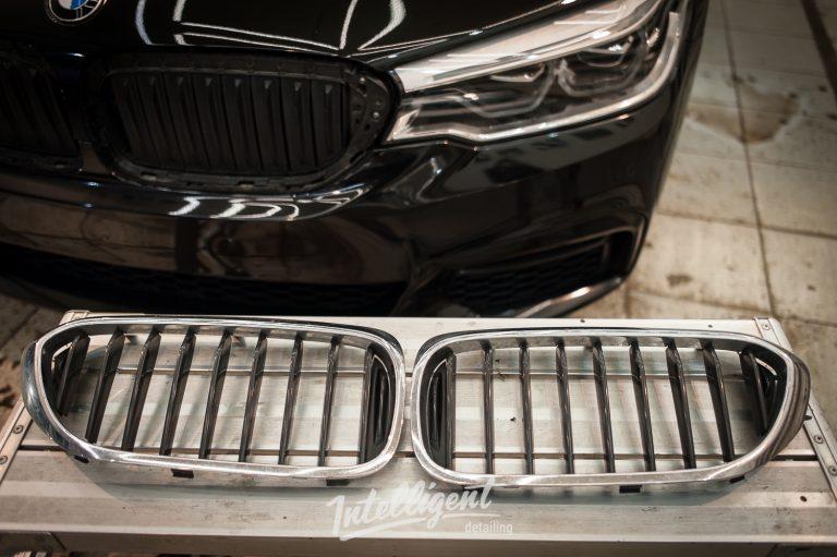 BMW 5 антихром молдингов