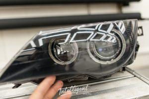Восстановление прозрачности фар BMW 6 intelligent detailing