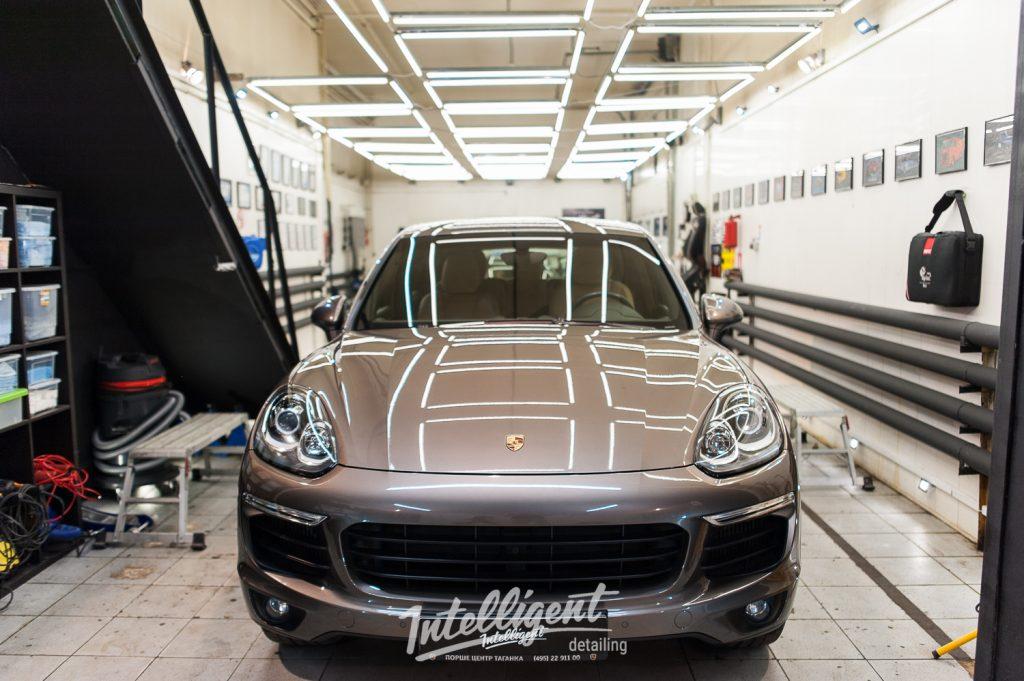 Porsche Cayenne легкая полировка