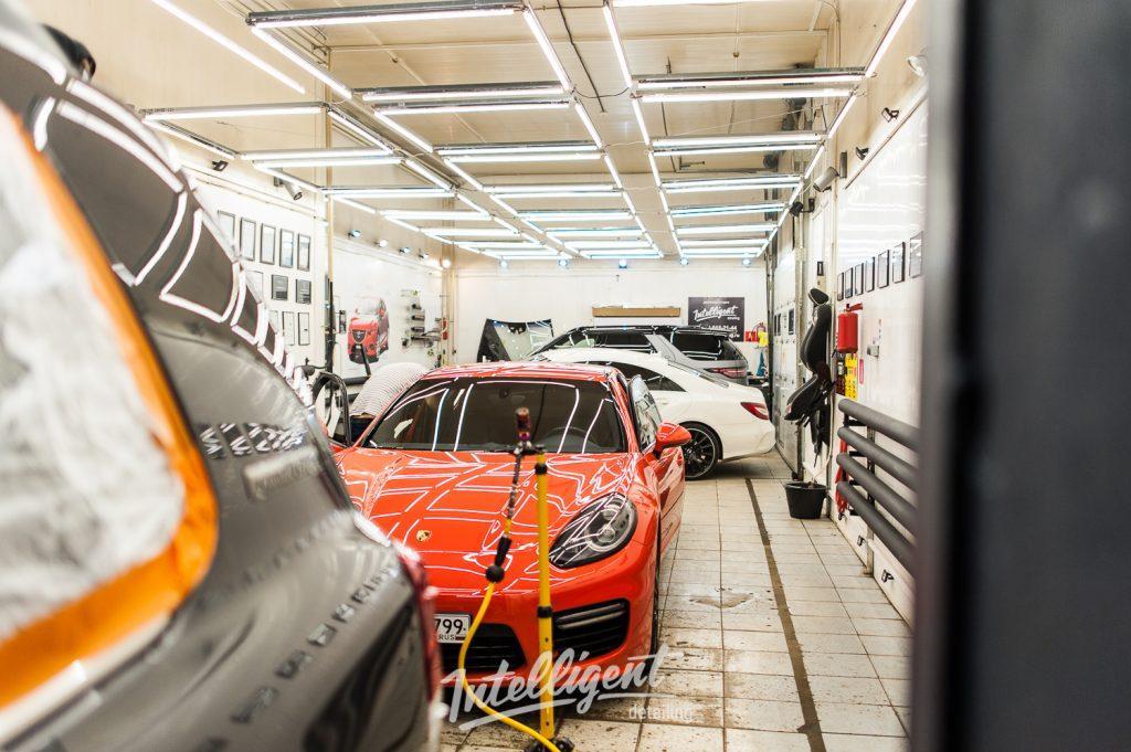 Porsche Panamera -  pdr выпрямление вмятин