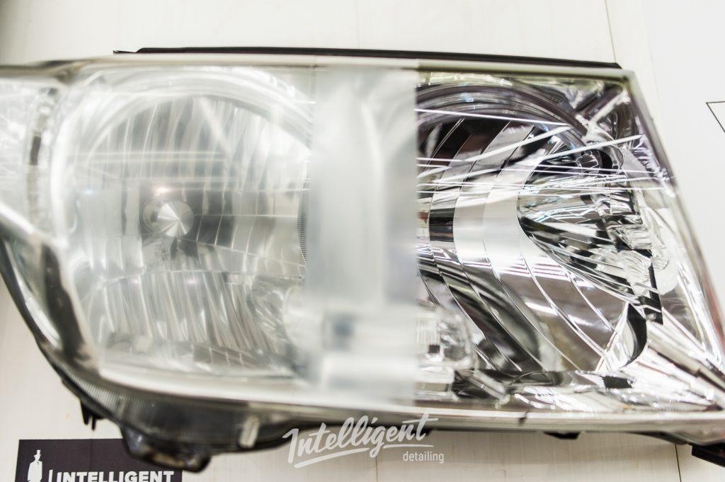 Toyota Land Cruizer 200 полировка фар