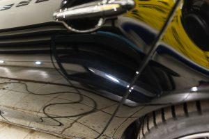 Jaguar XJ полировка царапин притертости от аварии