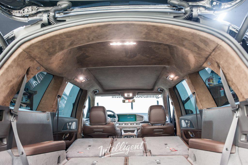 Mercedes GLS - пошив потолка в алькантару