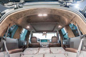 Mercedes GLS пошив потолка в алькантару