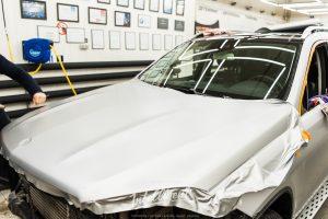 Mercedes GLS - оклейка виниловой пленкой в intelligent detailing