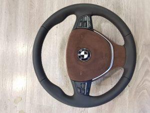 BMW 3 пошив руля и подушки