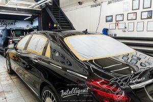 Mercedes Mybach 222 детейлинг центр, полировка кузова авто, керамика авто Intelligent detailing
