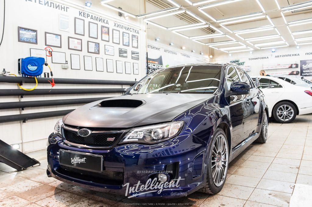 Subaru WRX STI полировка лкп кузова