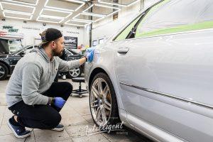 Audi A8 W12 полировка кузова авто керамика в intelligent detailing детейлинг