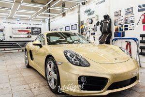 Porsche Cayman полировка кузова
