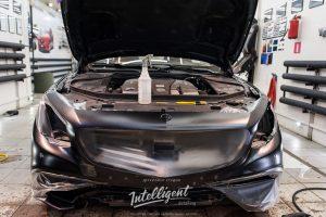 Mercedes S оклейка матовой пленкой