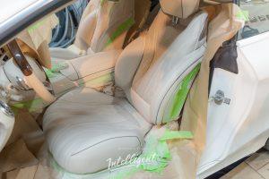Mercedes S 63 химчистка и ремонт покраска кожи сидений