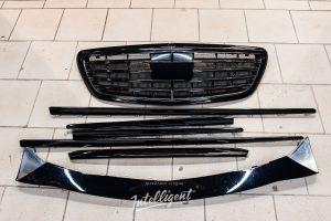 Mercedes S63 Антихром молдингов