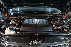 Range Rover Autobiography мойка мотора паром