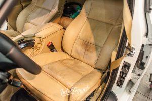 BMW 5 покраска сидений