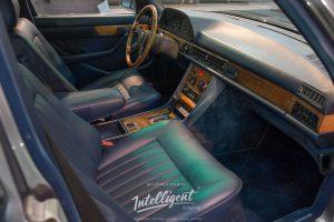 Mercedes 126 покраска кожи салона полностью