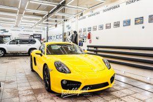 Porsche Cayman полировка, керамика, химчистка.