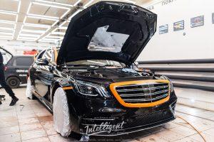 Mercedes S63 полировка, пленка, химчистка,покраска, антихром.
