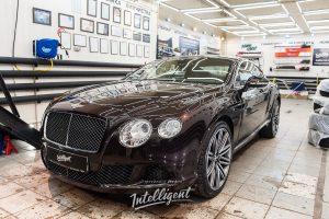Bentley Continental GT полировка, химчистка, мотор, сидение.