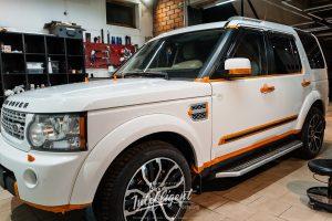 Land Rover Discovery пошив руля, химчистка, полировка